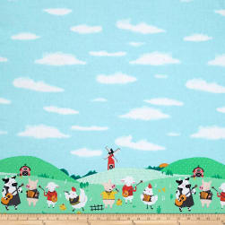 Michael Miller Happy Hoedown Double Border Spring Fabric