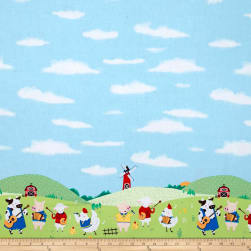 Michael Miller Happy Hoedown Double Border Summer