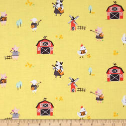 Michael Miller Happy Hoedown Stay Tuned Straw Fabric