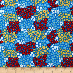 Michael Miller Happy Hoedown Countryside Blueberry Fabric