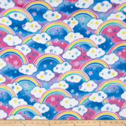 Polar Fleece Rainbow Bliss Multi Fabric