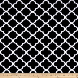Polar Fleece Quatrefoil Black Fabric