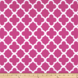 Polar Fleece Quatrefoil Pink Fabric