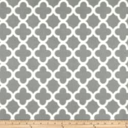 Polar Fleece Quatrefoil Grey