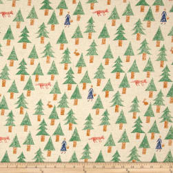 Kokka Sakkkaz Woods Trees Cotton Canvas Muslin Fabric
