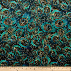 Morgan Peacock Feather Printed Velvet Fabric