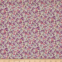 Frou-Frou Fleuri Voile Small Scale Violet Fabric
