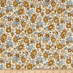 Frou-Frou Fleuri Voile Olive Fabric