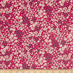 Frou-Frou Fleuri Voile Berry Punch Fabric