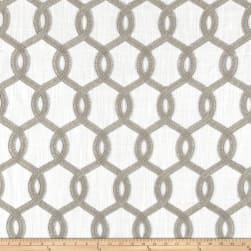 Europatex Nantucket Embroidered Slub Gray Fabric