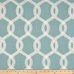 Europatex Nantucket Embroidered Slub Cloud Fabric