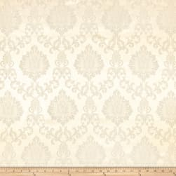 Europatex Damask Jacquard White Fabric
