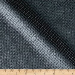 Europatex Velvet Basketweave Charcoal Fabric