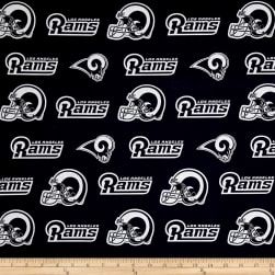 NFL Cotton Broadcloth Los Angeles Rams Navy Fabric