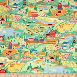Alexander Henry Monkey's Bizness Countryside Primary Fabric