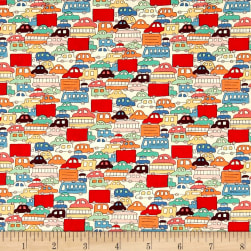 Alexander Henry Monkey's Bizness Rush Hour Primary Fabric