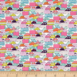 Alexander Henry Monkey's Bizness Rush Hour Berry Fabric