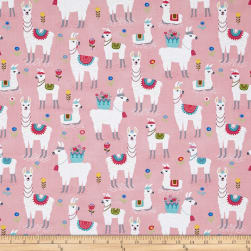 Timeless Treasures Alpaca Adventures Alpaca Pink Fabric