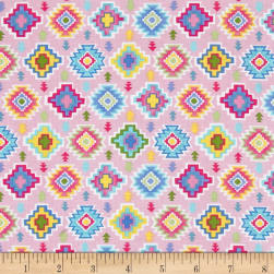 Timeless Treasures Alpaca Adventures Tribal Geo Pink