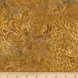 Timeless Treasures Tonga True Love Batik Wildflower Swirl Caramel