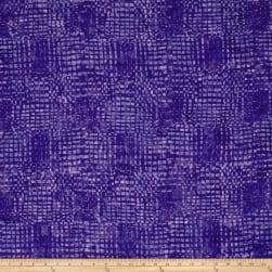 Timeless Treasures Tonga Batik Pinwheel Loom Purple Fabric