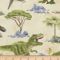Timeless Treasures Dinosaur Scenic Dinosaur Fabric