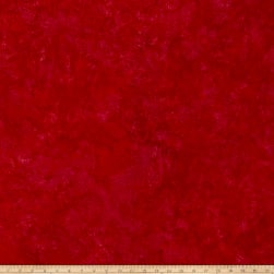 Island Batik Rayon Challis Pomegranate Seeds Red Fabric