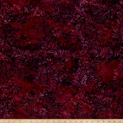 Island Batik Rayon Challis Sugared Plum Fabric