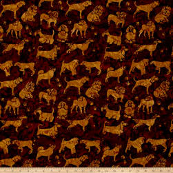 Island Batik Cotton Dogs Nutmeg