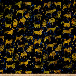 Island Batik Cotton Dogs Midnight