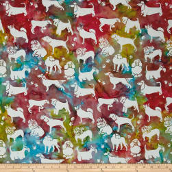 Island Batik Cotton Dogs Tiedye
