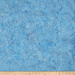 Island Batik Ogee Petal French Blue