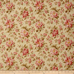 Crystal Farm Rose Wheat Fabric