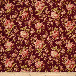 Crystal Farm Rose Mulberry Fabric