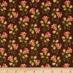 Crystal Farm Wildflower Chestnut Fabric