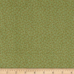 Crystal Farm Spring Sprouts Sage Fabric