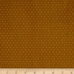 Crystal Farm Dot Dot Dot Toffee Fabric