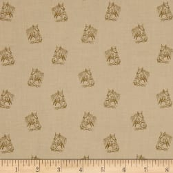 Crystal Farm Painted Pony Wheat Fabric