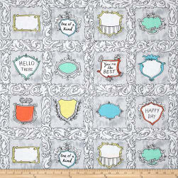Andover Flourish Flourish Labels Royal Fabric