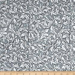Andover Flourish Acanthus Charcoal Fabric