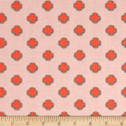 Andover Flourish Scrolling Dot Salmon Fabric