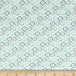 Handmade Buttons Blue