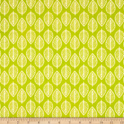 Modern Retro Leaf Green Fabric