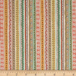 Andover/Makower Doodle Days Stripe Multi Fabric