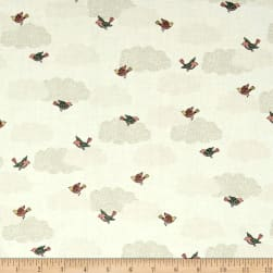 Andover/Makower Doodle Days Clouds Ivory Fabric