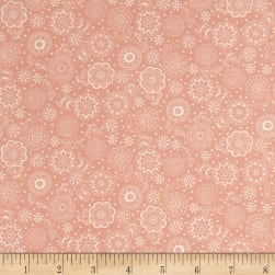 Andover/Makower Doodle Days Tonal Flowers Pink Fabric