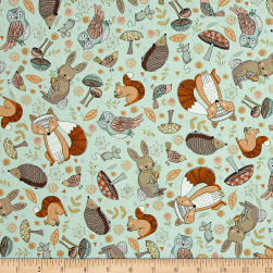 Andover/Makower Doodle Days Scatter Turquoise Fabric