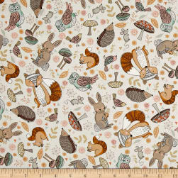 Andover/Makower Doodle Days Scatter Ivory Fabric