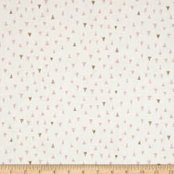 Andover/Makower Doodle Days Triangles Pink Fabric