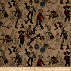 Alexander Henry Haunted House Zombie High Dirt Fabric